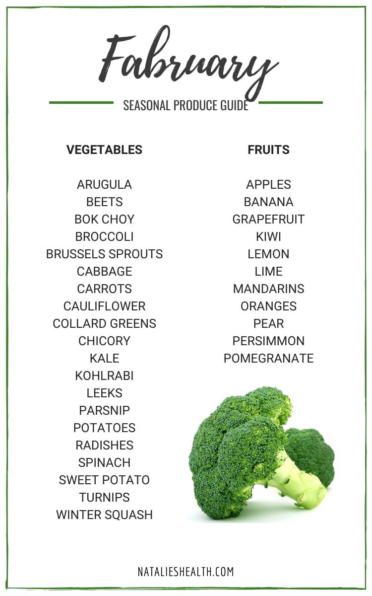Seasonal Produce Guide Whats in Season FEBRUARY