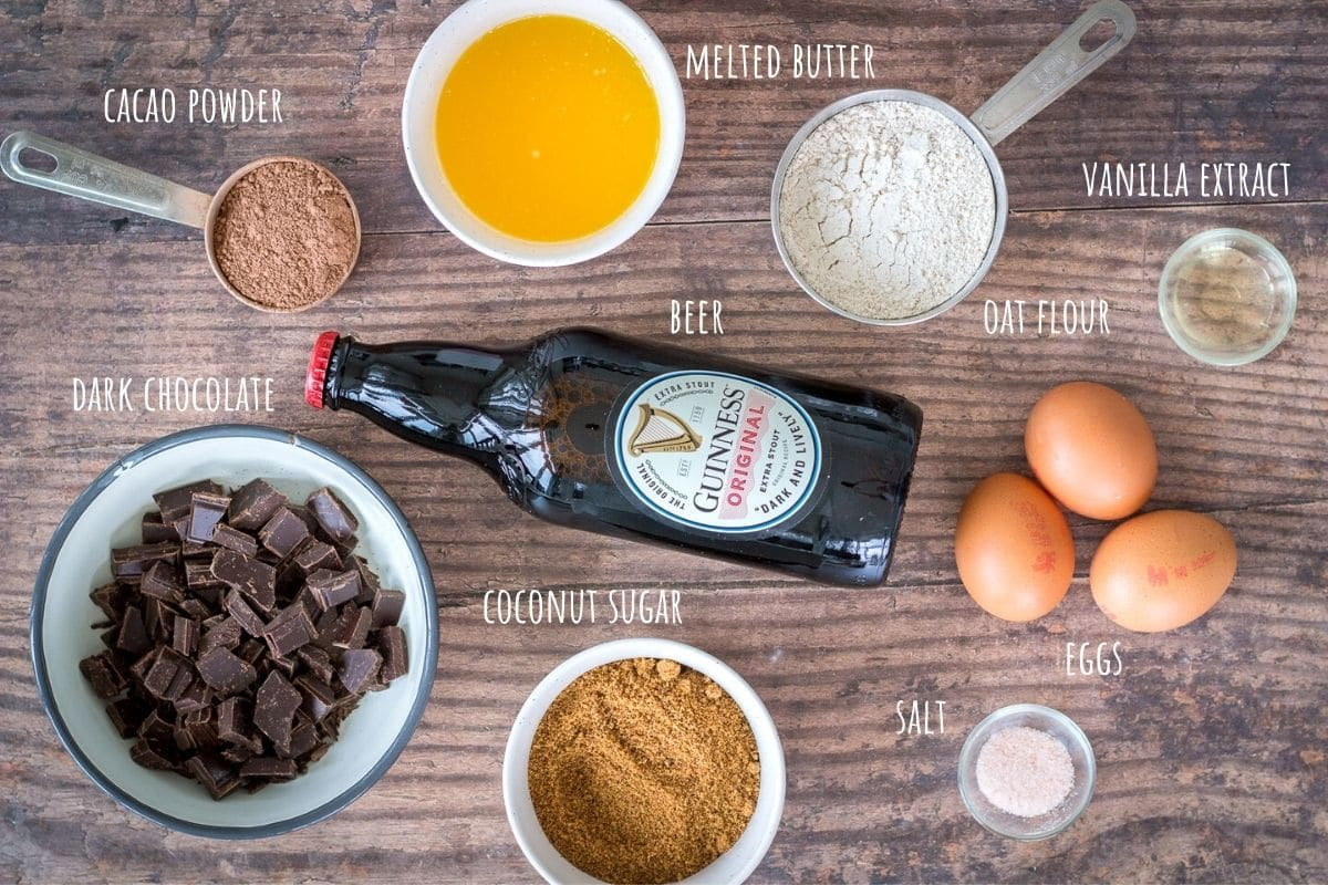 Chocolate Guinness Brownies ingredients