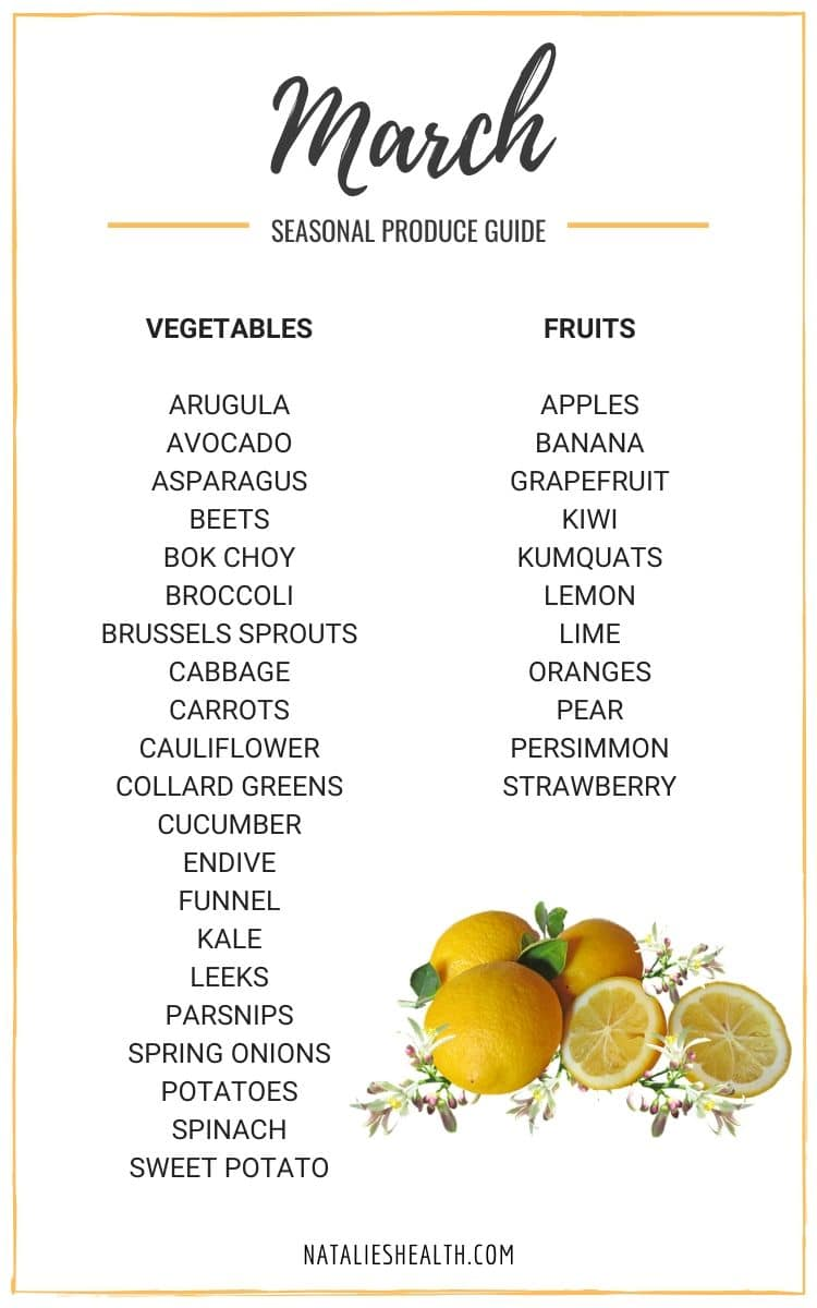 Seasonal Produce Guide What's in Season MARCH
