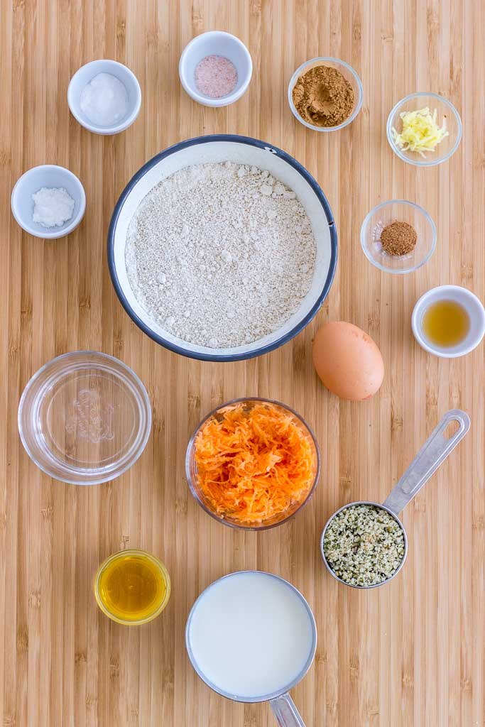Carrot Cake Pancakes ingredients
