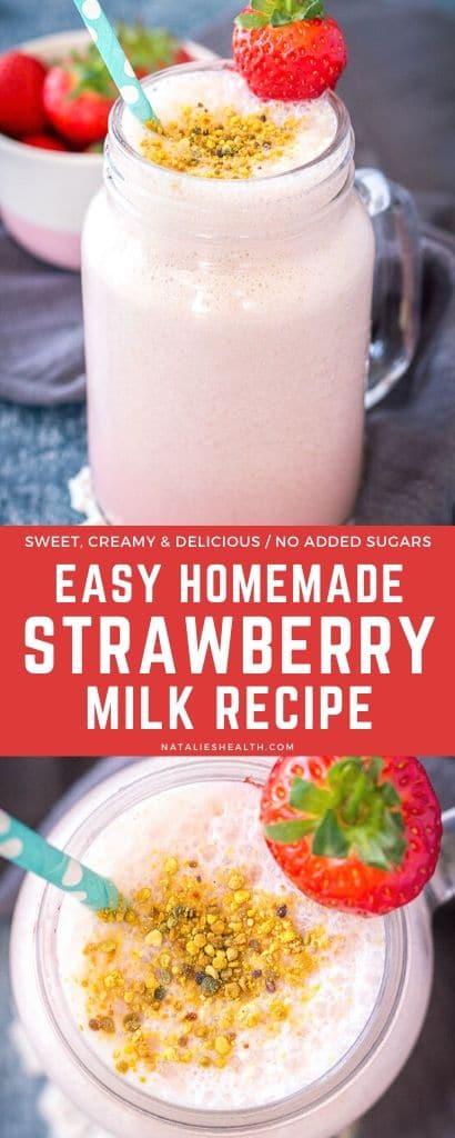 Easy Homemade Strawberry Milk