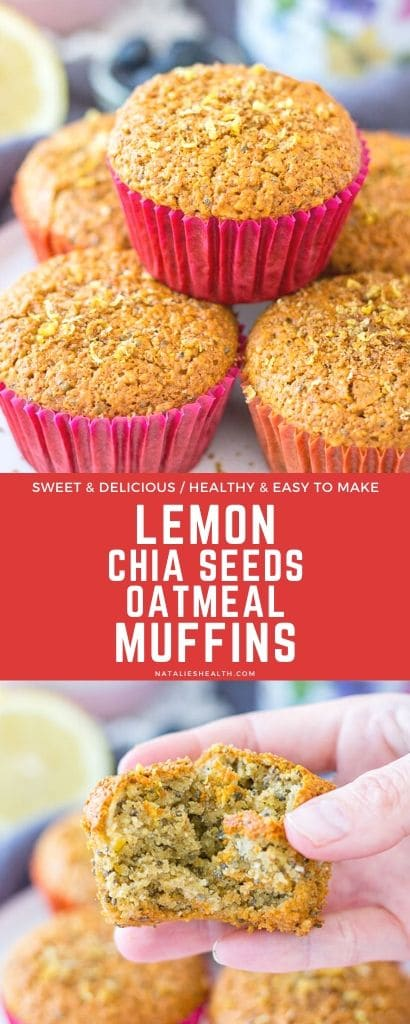 Lemon Muffins with oats and chia seeds