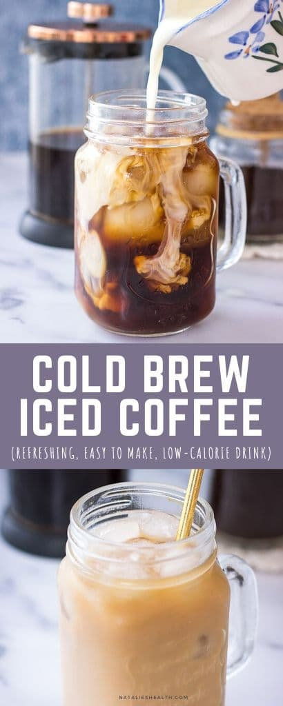 Homemade Iced Coffee made with cold brew coffee