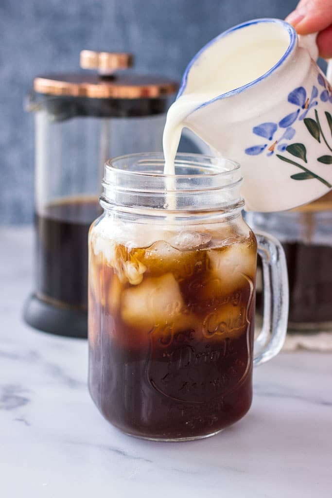 Healthy Iced Coffee made with cold brew coffee