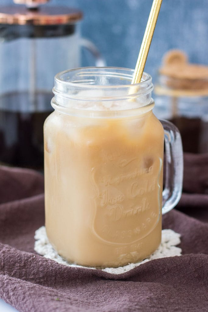 Iced Coffee made with cold brew coffee