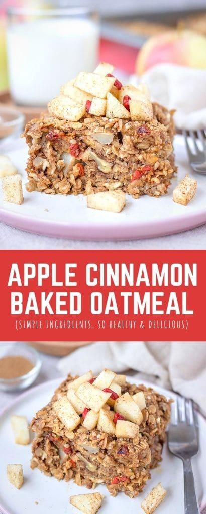 Apple Cinnamon Baked Oatmeal PIN
