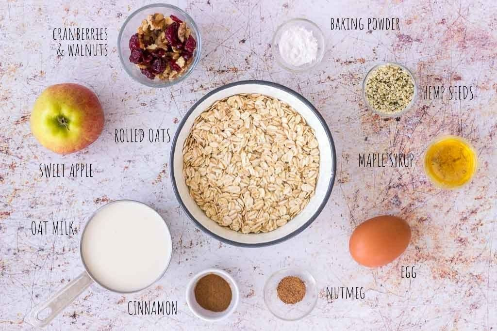 Apple Oatmeal Pancakes ingredients