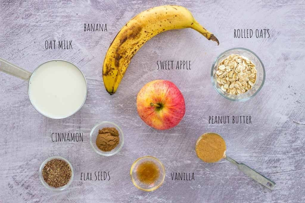 Apple Peanut Butter Smoothie ingredients