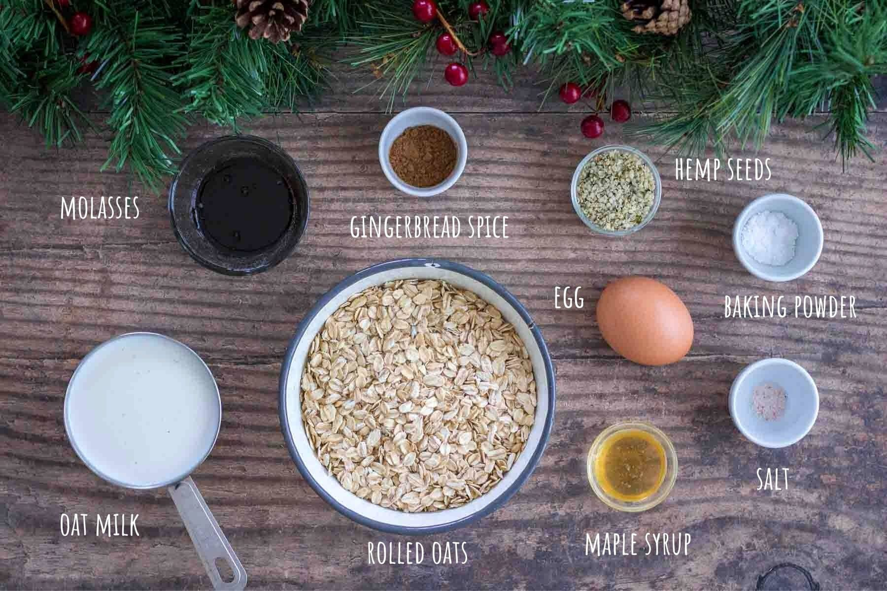 Gingerbread Pancakes ingredients