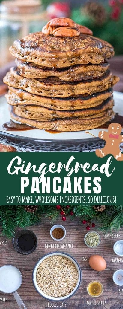 Gingerbread Pancakes Pin image