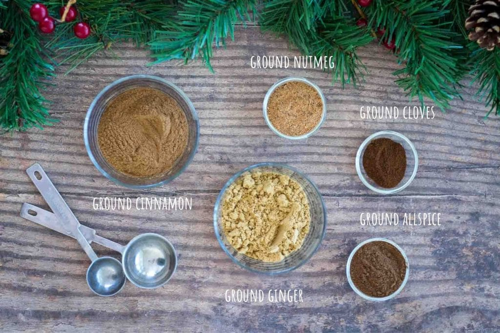 Gingerbread Spice Mix ingredients