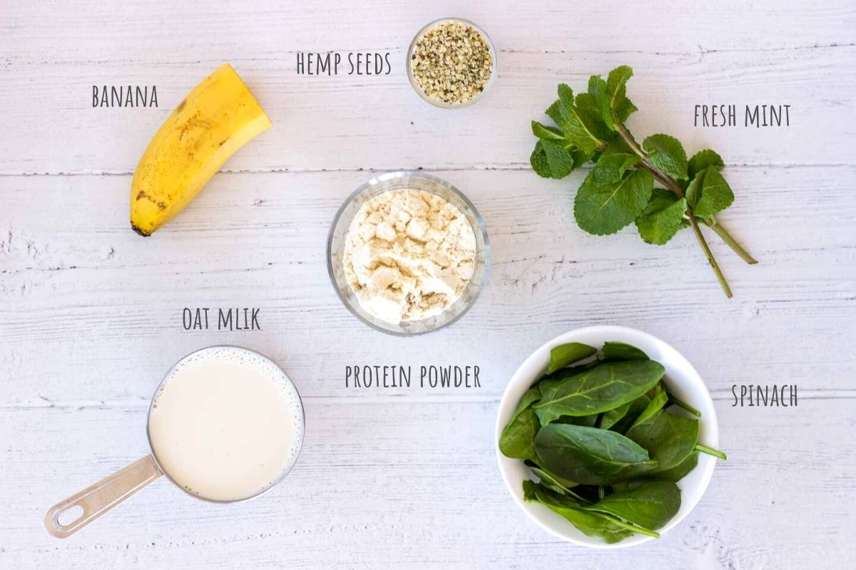 Shamrock Protein Shake ingredients