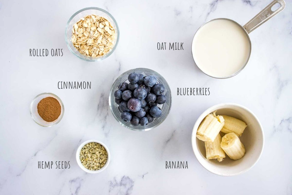 Blueberry Banana Smoothie ingredients