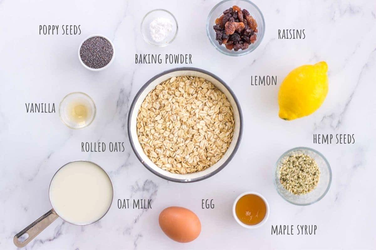 Lemon Poppy Seed Pancakes ingredients
