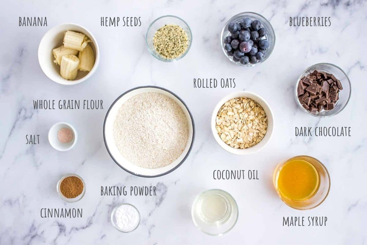 Blueberry Oatmeal Cookies ingredients