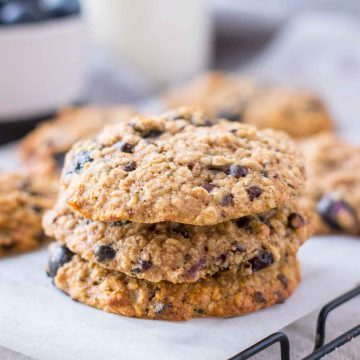 Oatmeal Cookies stacked