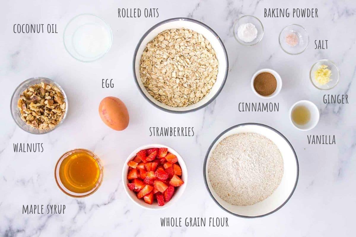 Strawberry Oatmeal Cookies ingredients