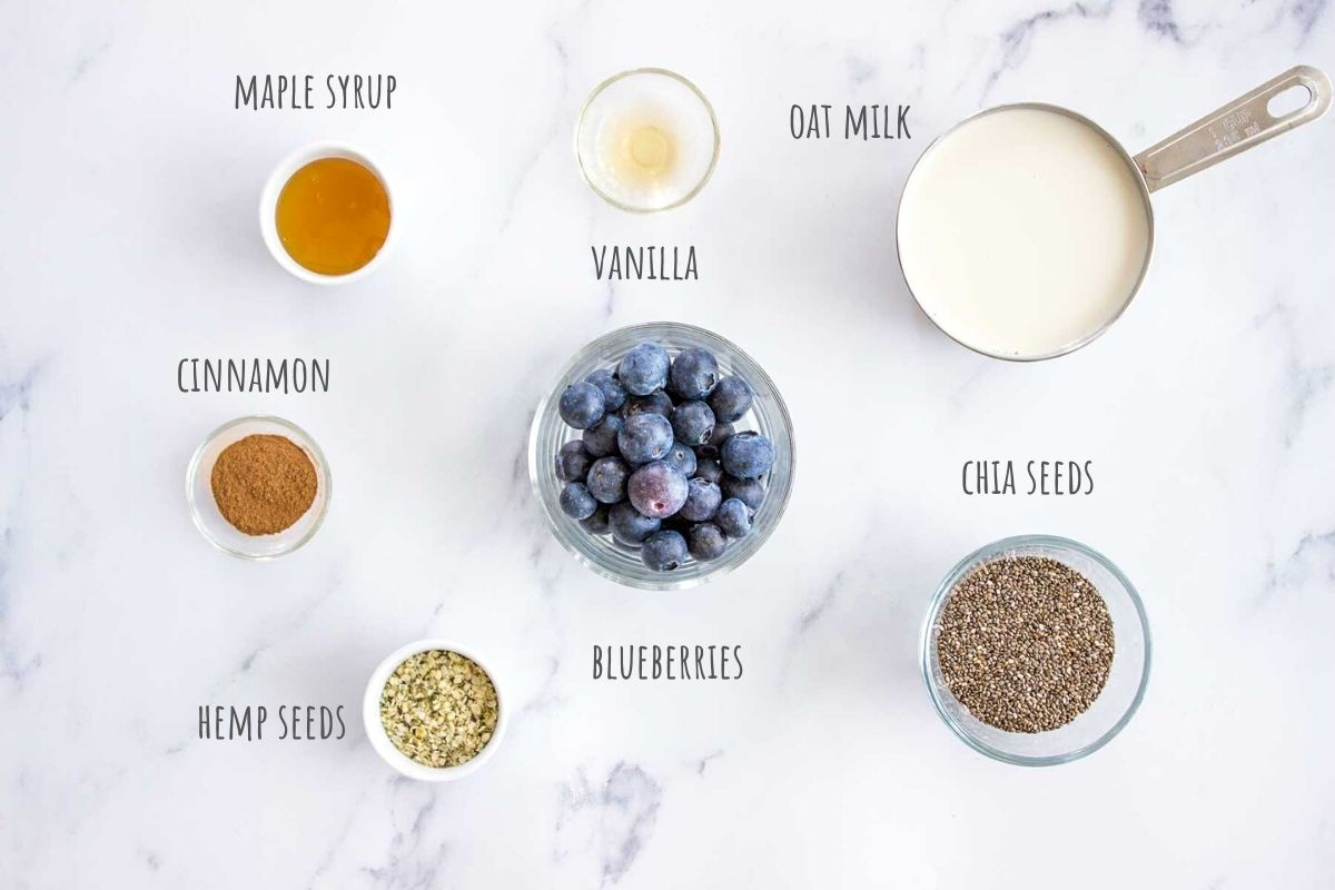 Blueberry Chia Pudding recipe ingredients