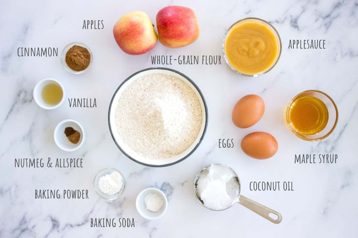 Apple Cinnamon Muffins ingredients