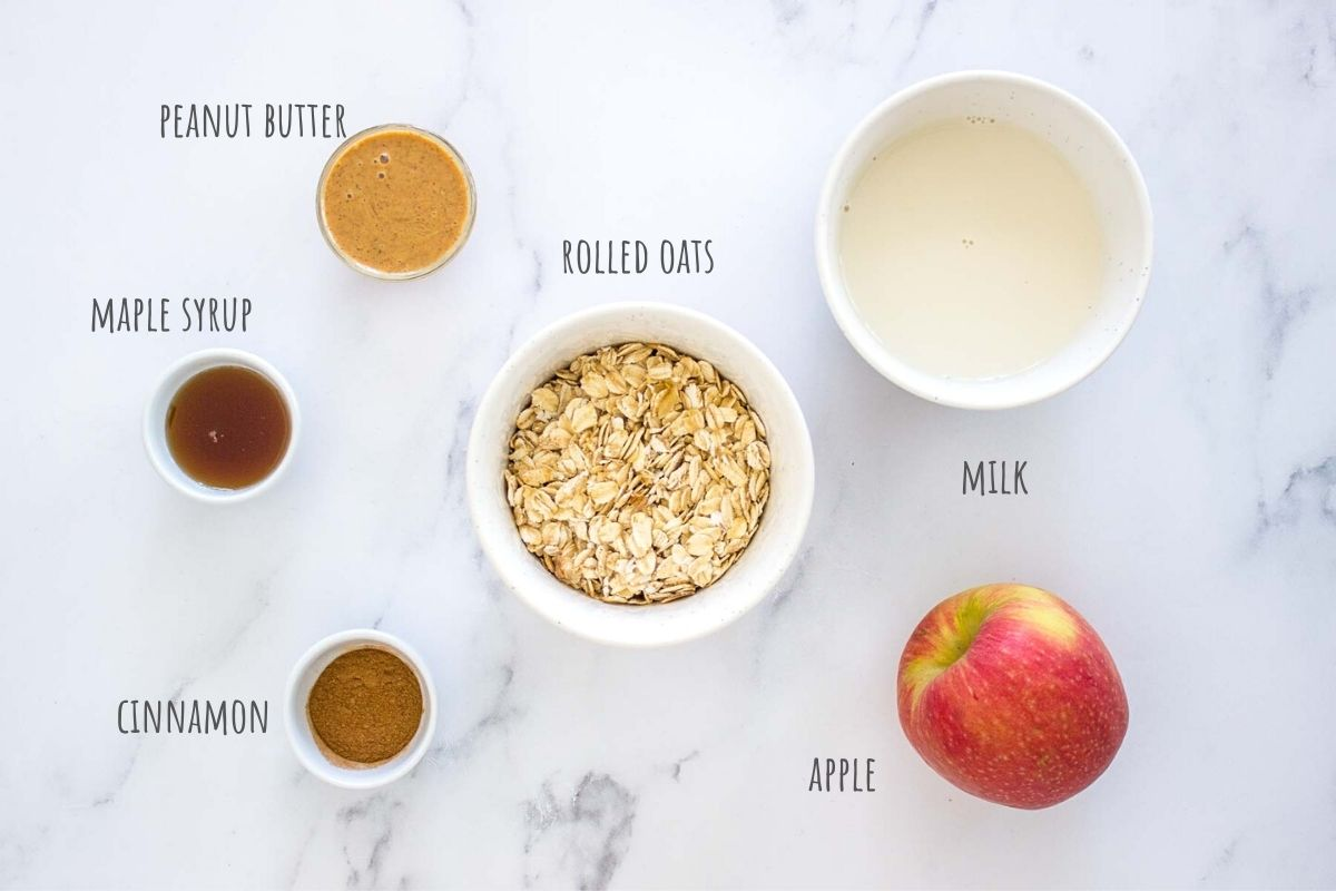 Apple Cinnamon Overnight Oats ingredients