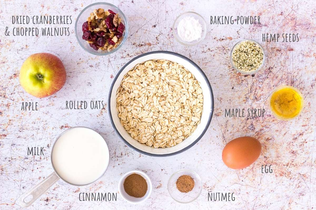 Apple Oatmeal Pancakes ingredients