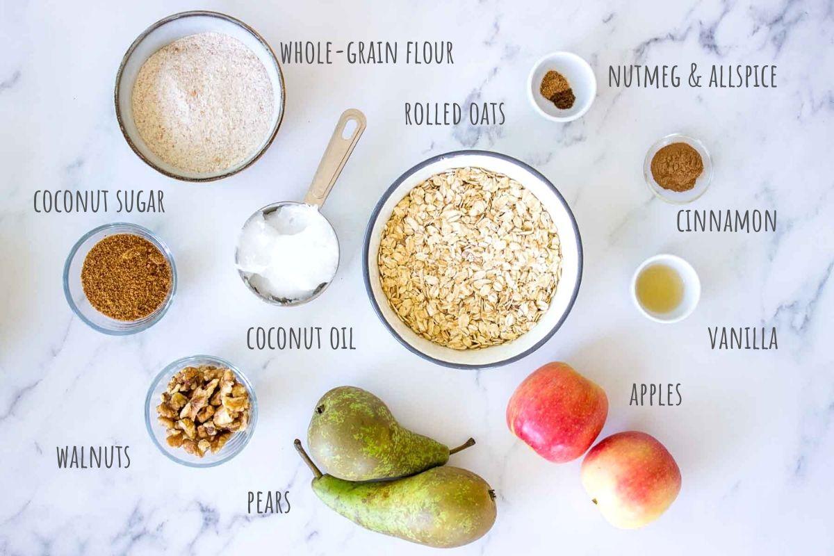 Apple Pear Crisp ingredients