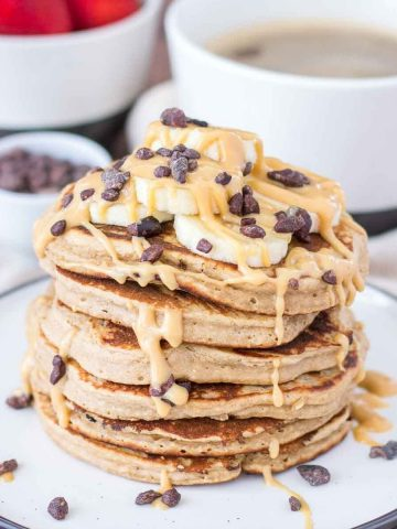 Peanut Butter Oatmeal Pancakes featured image