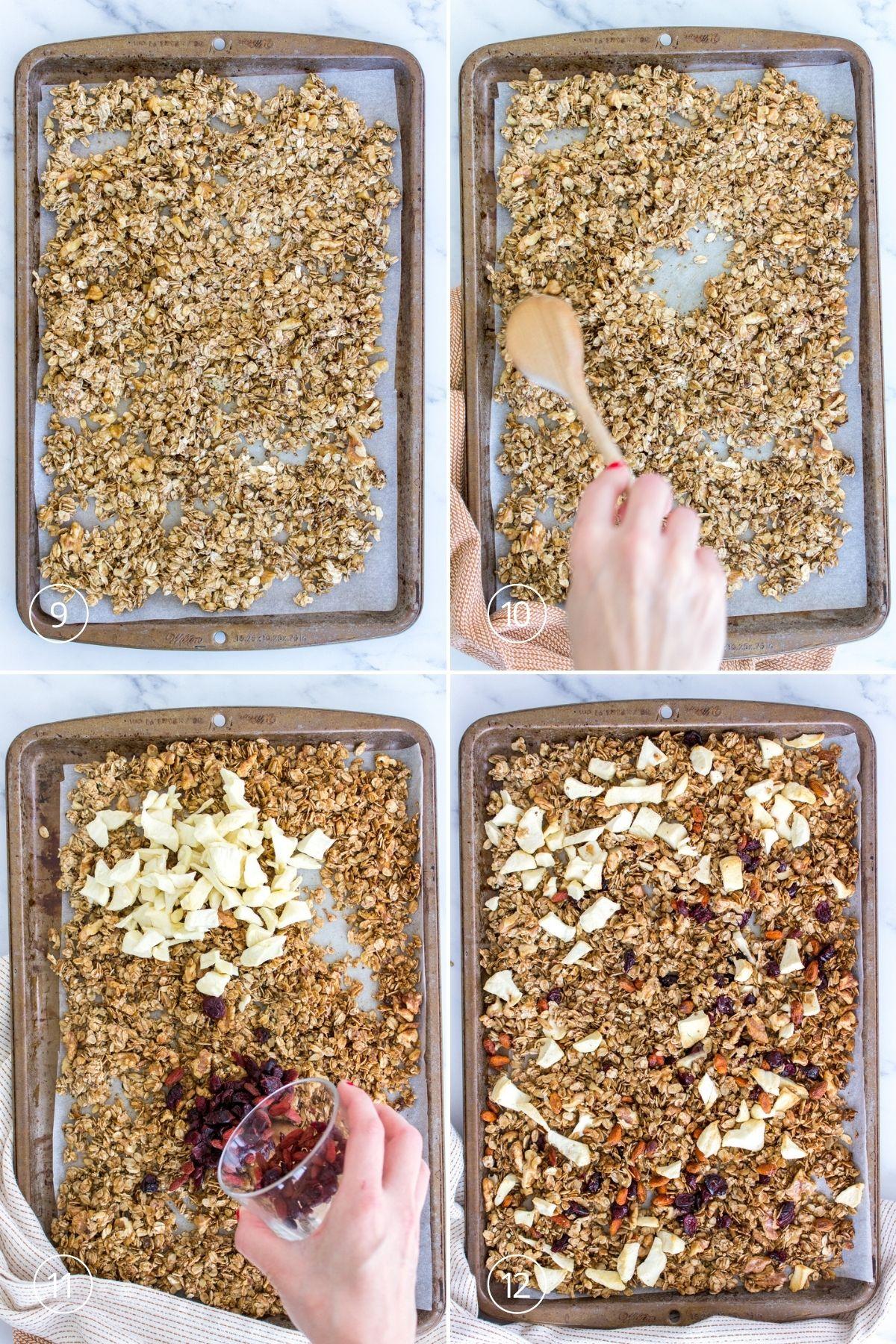 Apple Cinnamon Granola process shots
