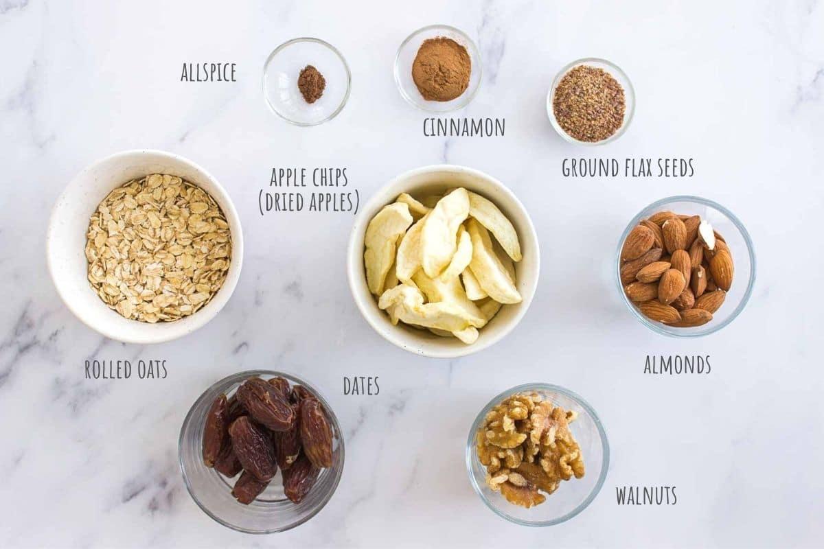 Apple Pie Energy Bites ingredients