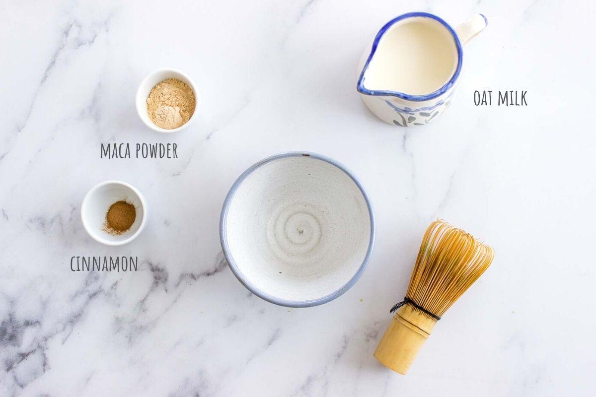Maca Latte ingredients