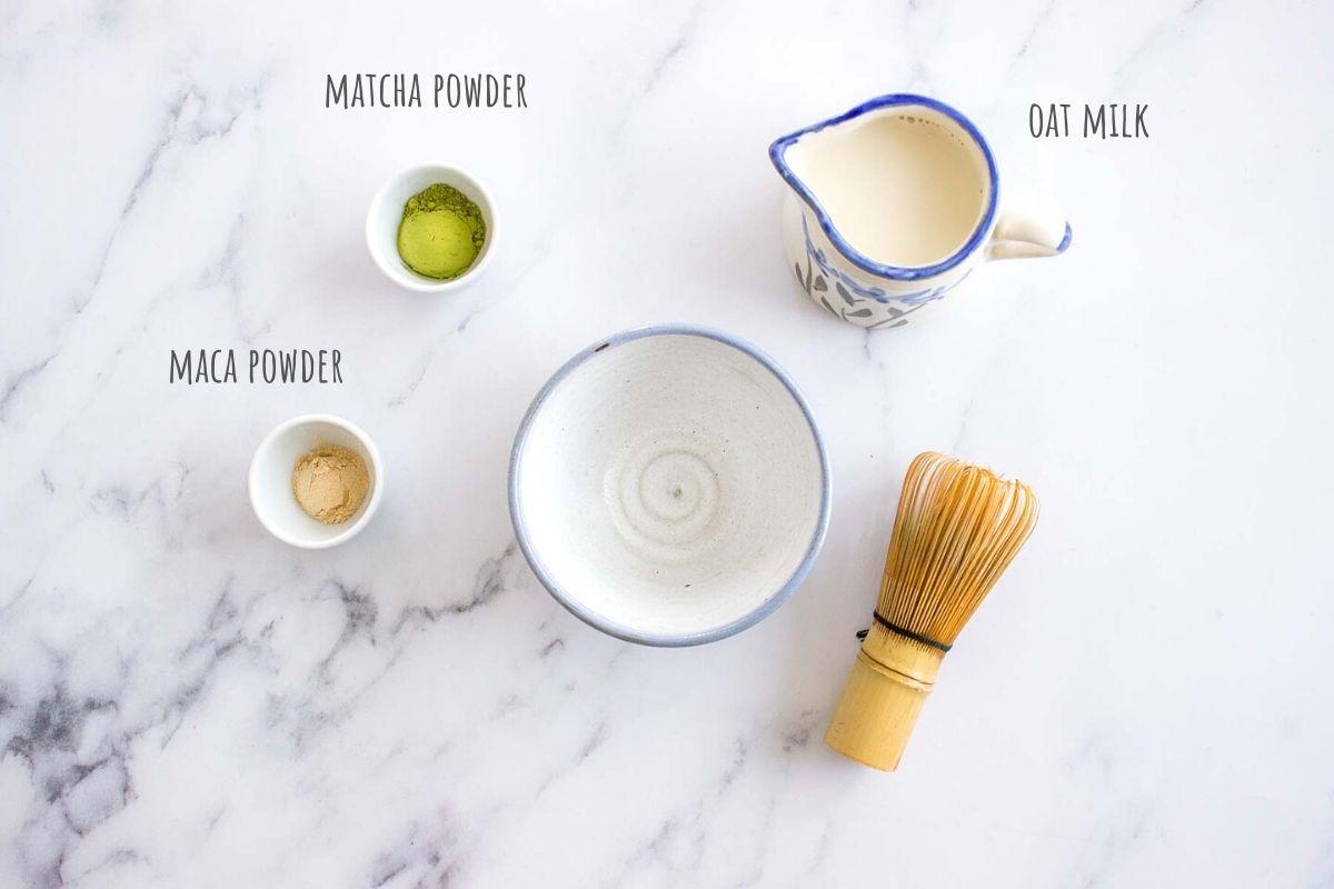 Matcha Maca Latte ingredients